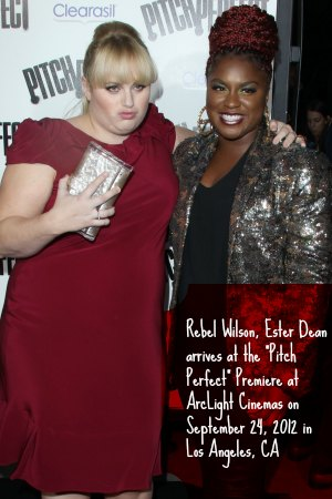 "Rebel Wilson, Ester Dean arrives at the ""Pitch Perfect"" Premiere at ArcLight Cinemas on September 24, 2012 in Los Angeles, CA"