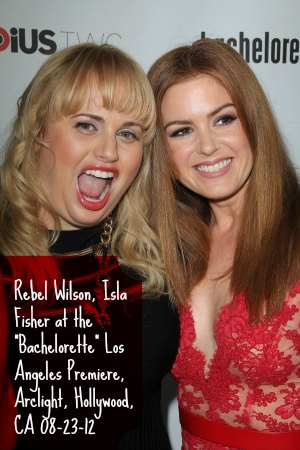 "Rebel Wilson, Isla Fisher at the ""Bachelorette"" Los Angeles Premiere, Arclight, Hollywood, CA 08-23-12"