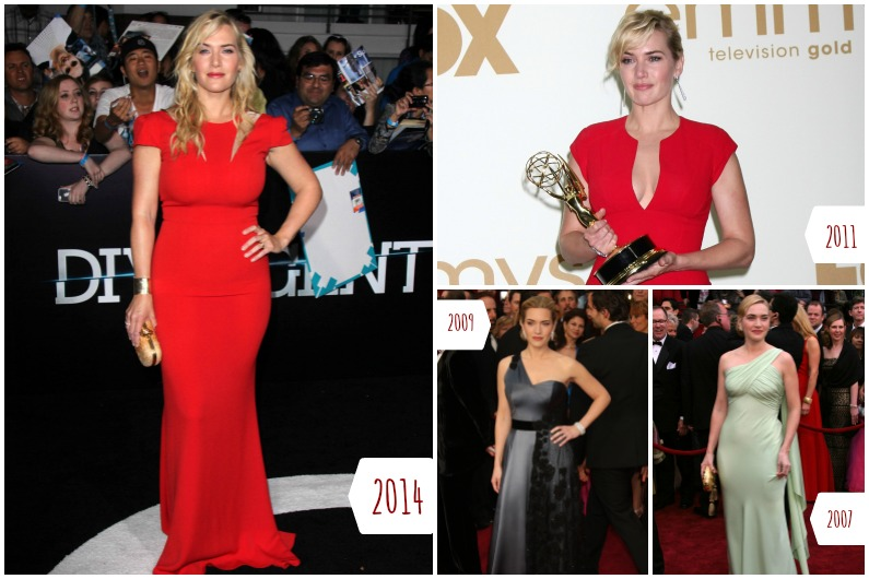 Kate Winslet's transformation from 2007 to 2014