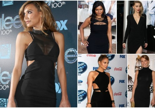celebrities wearing little black dress