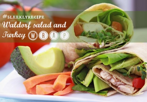 waldorf salad and turkey wrap recipe