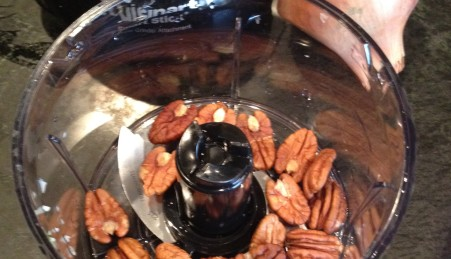 chop pecan nuts with a food processor