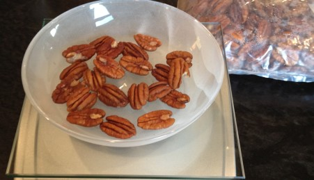 weigh your pecan nuts