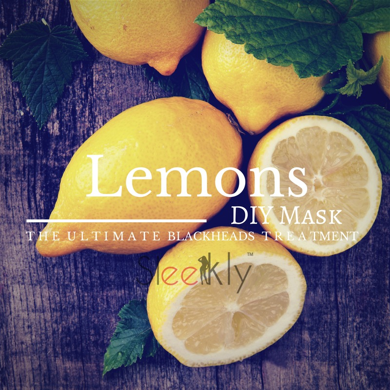 DIY lemon mask for blackheads