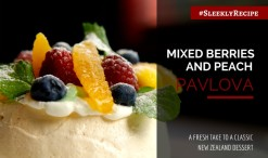 mixed berries and peach pavlova recipe