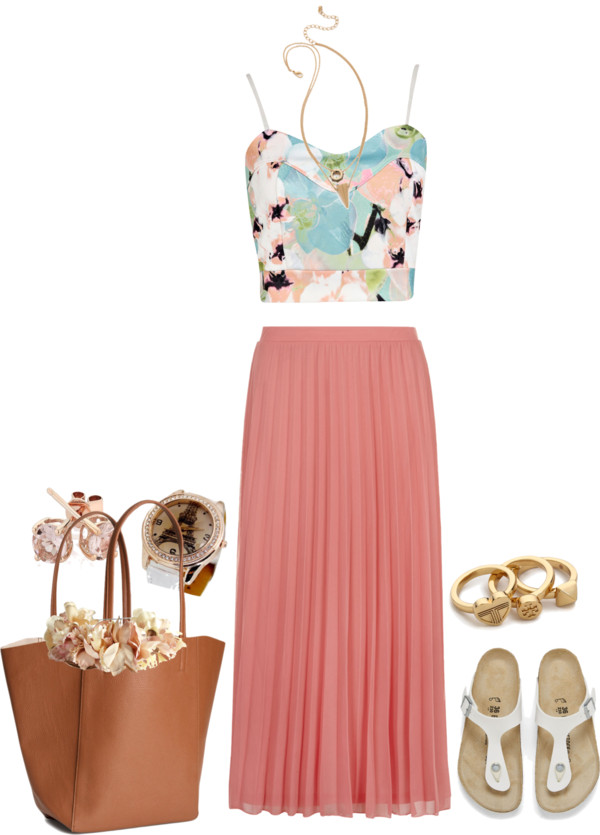 how to wear a pleated midi skirt
