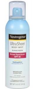 Neutrogena Ultra Sheer Sunblock Body Mist, SPF 30, 5 Ounce