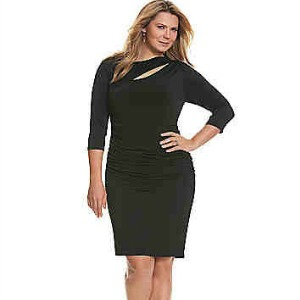Control Tech slimming cut-out dress-300