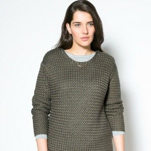 Metal thread sweater-300