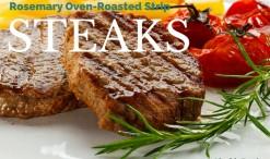Rosemary Oven-Roasted Strip Steaks