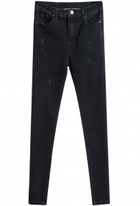 Black Denim Slim Pants