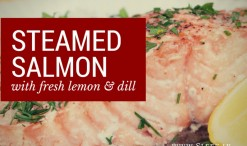 steam salmon with fresh dill