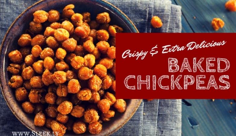 crispy baked chickpeas