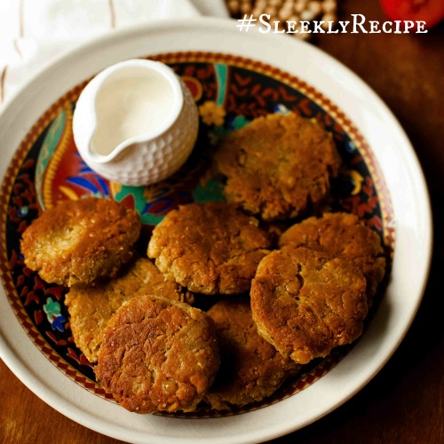 falafel-inspired chickpea patties