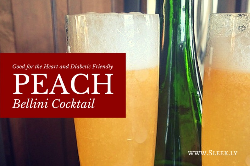 diabetic friendly peach bellini cocktail
