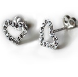 GELLIE OPEN HEART EARRINGS